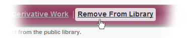 The Repository's Remove From Library Button