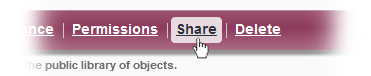 The Repository's Share Objects Button